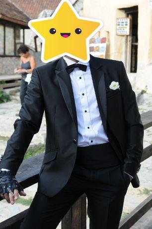 Costum negru din 4 piese