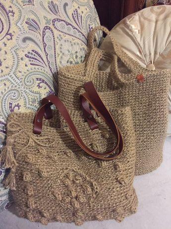 Продам со скидкой  сумки шопперы из джута