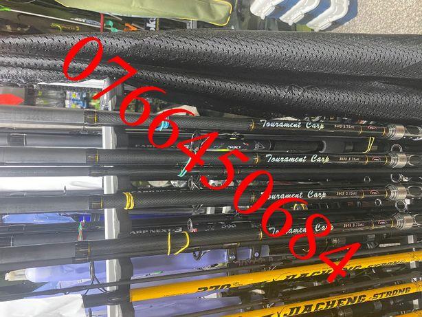 Set 4 Lansete Carbon 100 % FL 3,75 lbs din 3 Bucati Mandrina Metal New