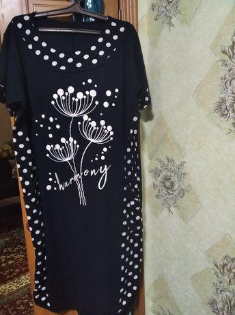 Продам женское трикотажное платье. Размер 56 рост170