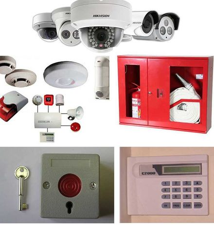 Монтаж охранно - пожарной сигнализации, видеонаблюдения.