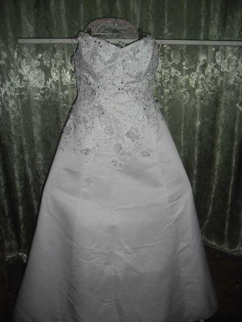 продам красивое свадебное платье большого размера