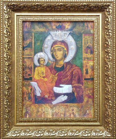 """Икона  """" Св. Богородица Троеручица """" на платно-репродукция - Нова"""