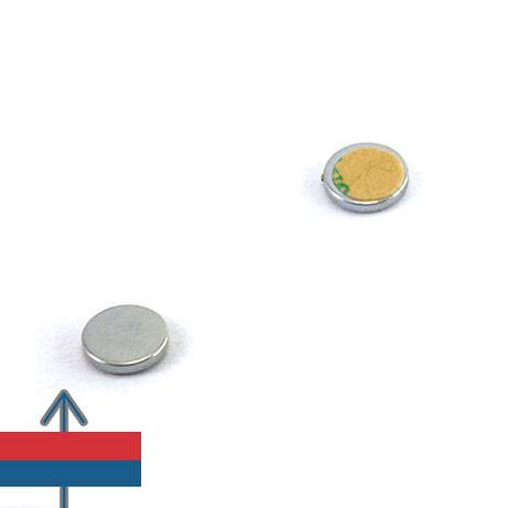 Magnet adeziv 10x1mm Neodim Puternic Disc forta 500g set 15 buc