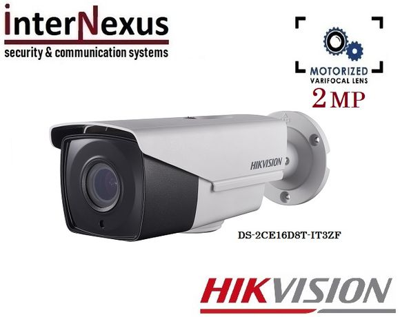 2 Mpx Камера Hikvision DS-2CE16D8T-IT3ZF с Моторизиран Обектив до 40м
