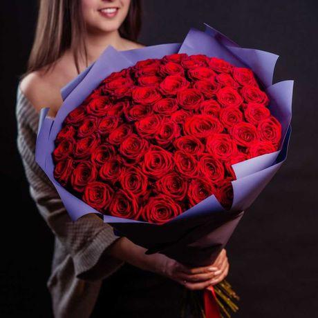 Розы по 690₸ _ Букеты _ Доставка цветов