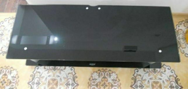 Masa tv de sticla neagra