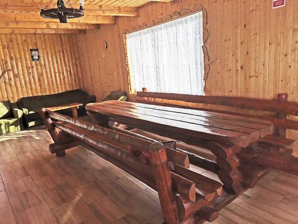 Vând masă rustică din lemn masiv
