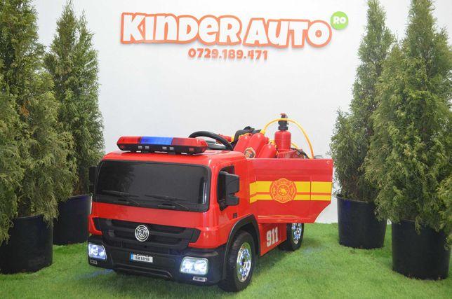 Masinuta electrica de pompieri Hollocy FireTruck 2x45W 12V