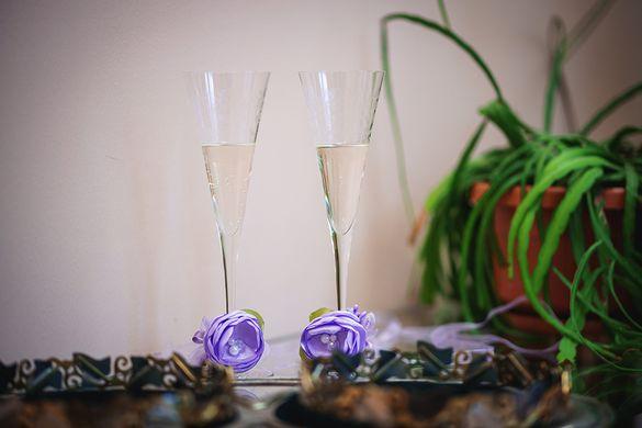 Black FRIDAY / Сватбени панделки за чаши, свещи, шампанско, ракия и др