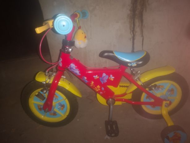Bicicleta copii 12 inch cu roti ajutatoare