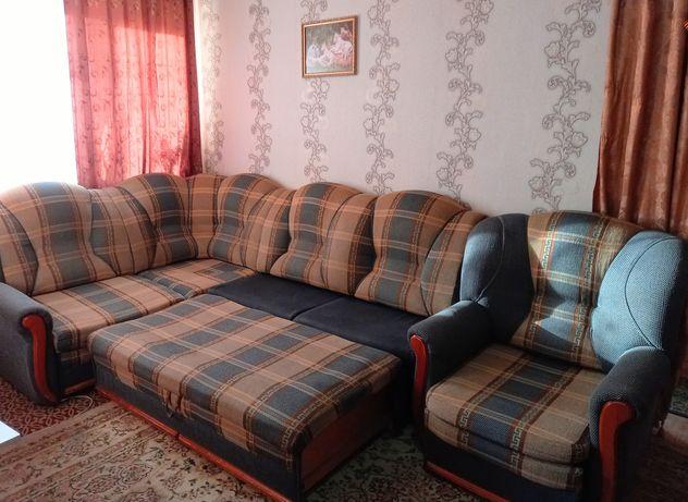 Продам мягкую мебель. Диван + кресло-кровать