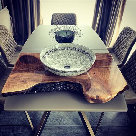 Плотове за кухня,баня,тоалетна от естествено дърво огледало,мивка,маса