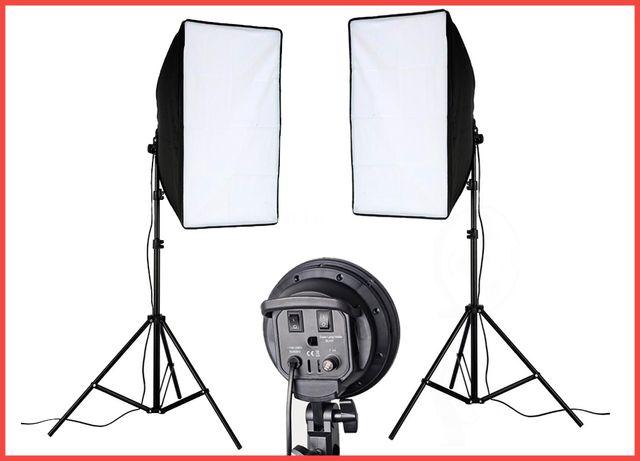 Софтбоксы с фотолампами для фото и видео. Свет для съёмок стойки