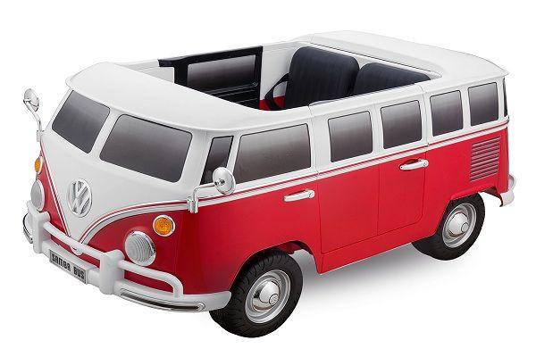 Masinuta electrica Kinderauto VW Samba Bus 2x45W, PREMIUM #Rosu