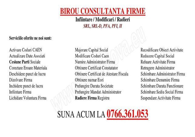 Birou Consultanta Firme (infiintari/modificari/radieri)