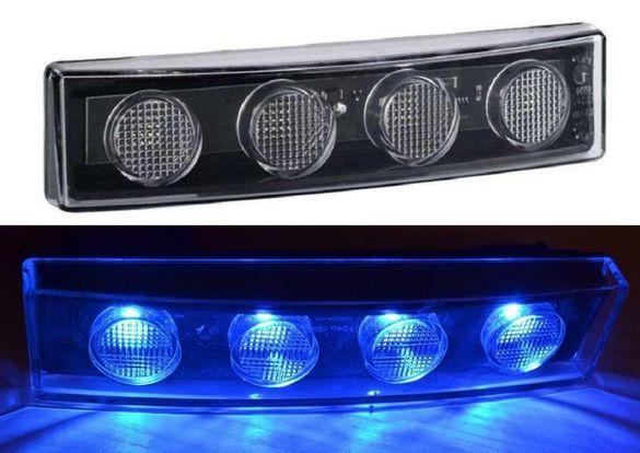 ЛЕД СИН габарит за таван кабина за Scania R/P/G серии L0052B