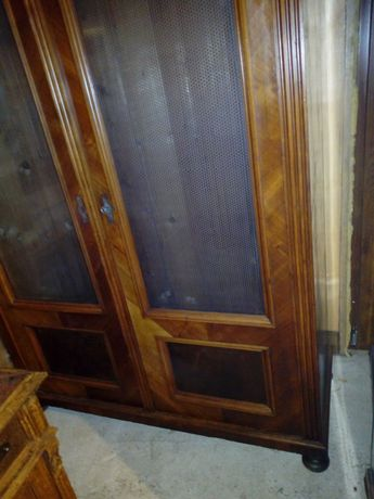 Biblioteca antica AltDeutsch lemn masiv restaurata