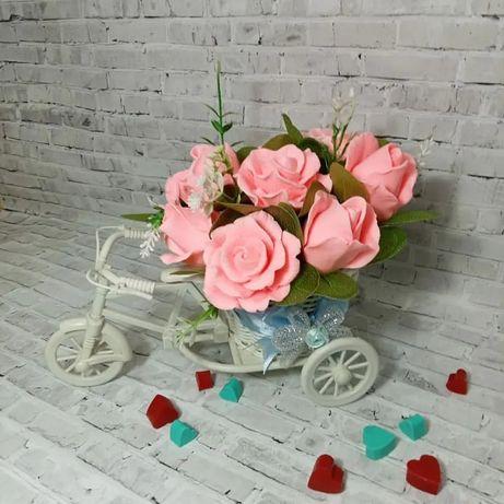 Мыльная корзинка роз