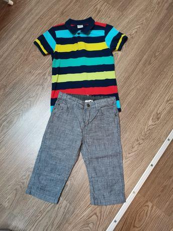 Set pantalon și tricou polo mărimea 128