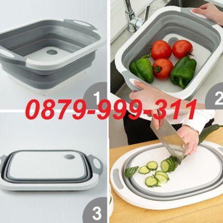 Мултифункционална Кухненска дъска за рязане купа за салата