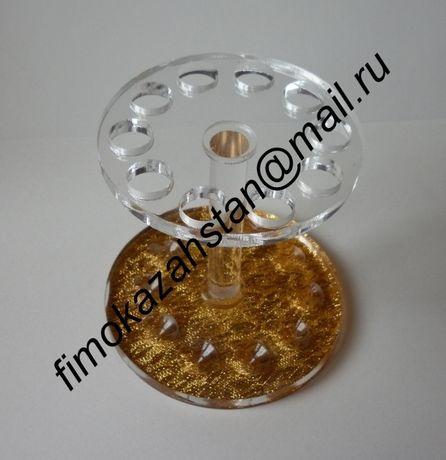 Подставка для кистей клуглая, 10 отверстий цена 700 тенге