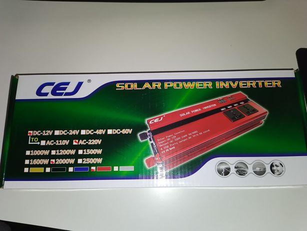 Invertor solar 12V 2000W ,USB, 220v Prize acumulator panou fotovoltaic