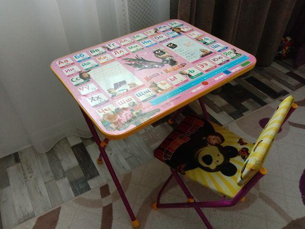 Детский стол и стул Маша и медведь