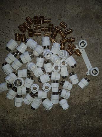 Racord PPR 25x3 , Niplu Bronz