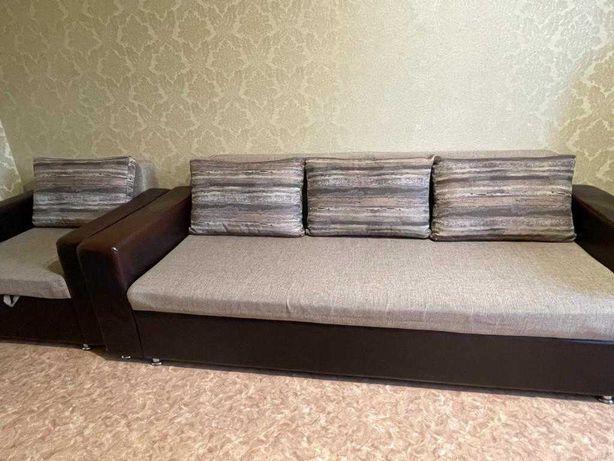 Мягкая мебель диван и кресло