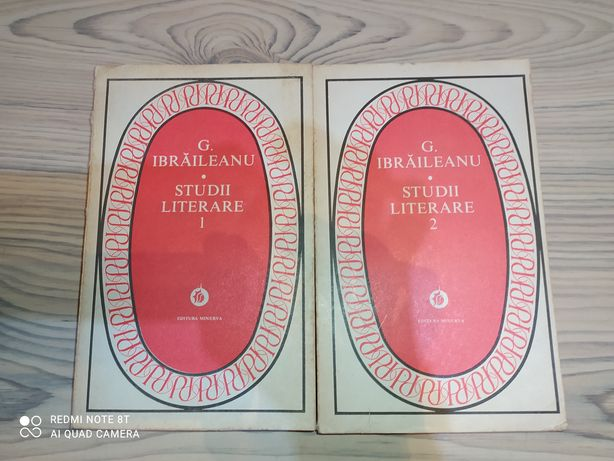 Studii literare vol 1 și 2 de G.Braileanu