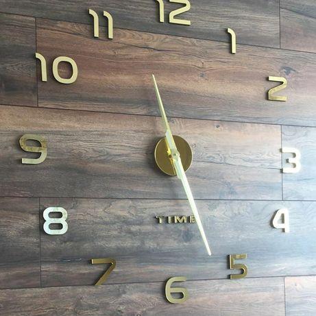 Большие самоклеющие настенные 3Д часы