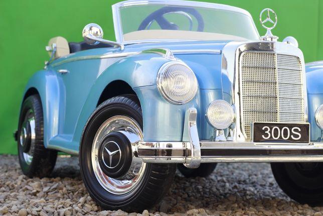 Masinuta electrica Kinderauto Mercedes 300S Oldtimer Cu ROTI MOI #Blue