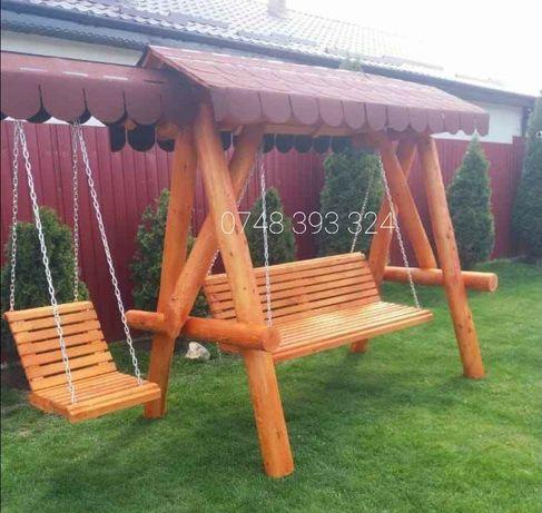 Balansoar  lemn  cu 1 leagan  copil