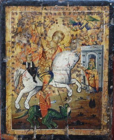 Sf. Gheorghe, Icoană pictată pe lemn (veche)