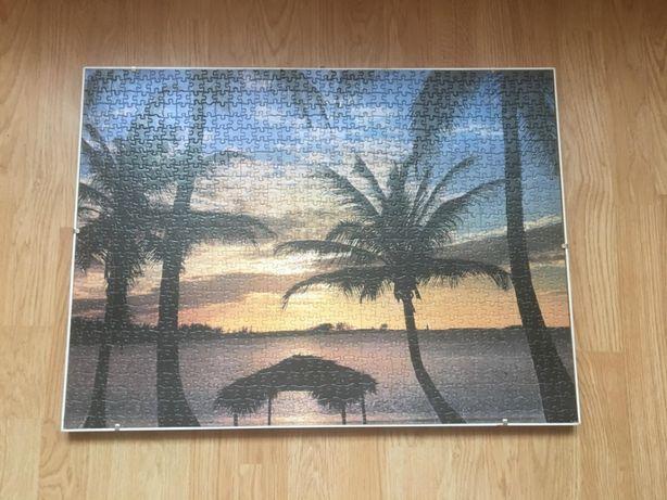 Tablou decorativ realizat din puzzle
