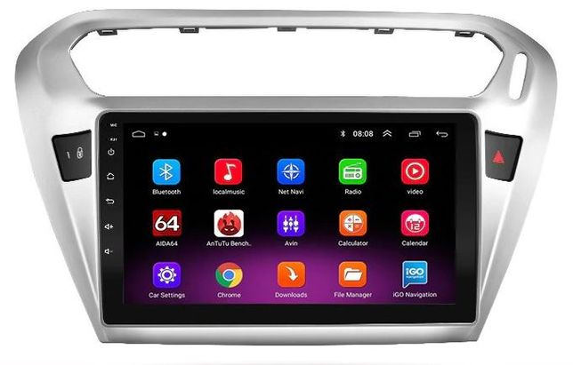 Navigatie Android 9.1- 9 inch Peugeot 301 Citroen Elysee 2013-2016