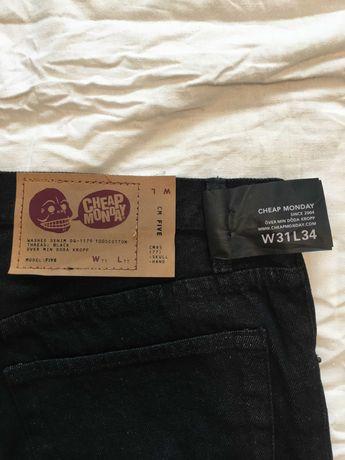 Cheap Monday - НОВИ оригинални дънки черни с етикет.