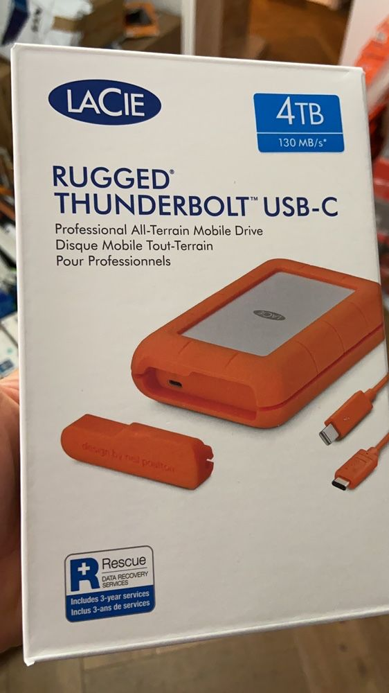 Nou sigilat antisoc Lacie Rugged 4TB usb C Thunderbolt
