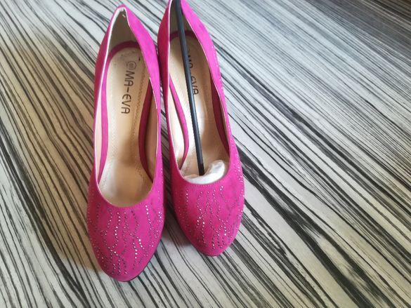 Обувки розови
