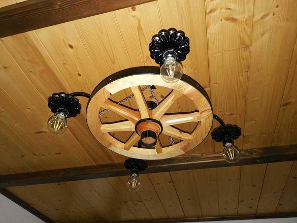 Колело на каруца с 4 крушки за механа