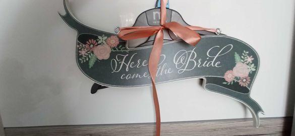 Сватбена табела с надписи винтидж чисто нова украса