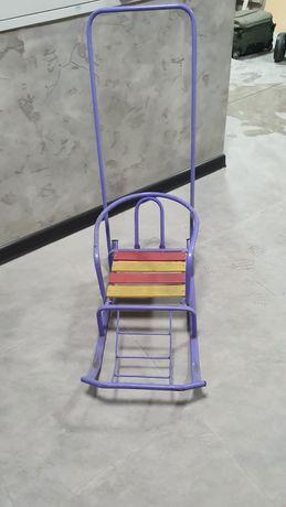 Санки для детей с колесиками