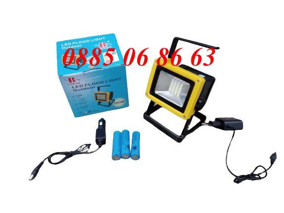 ЛЕД ПРОЖЕКТОР с 3 режима, LED фенер, аварийна лампа: BL-204 + БАТЕРИИ