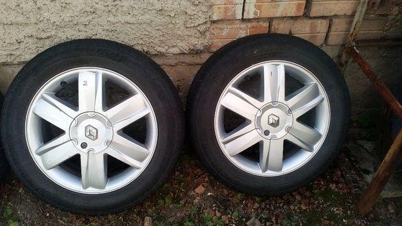 Алуминиеви джанти/ляти джанти за Рено меган със зимни гуми-перфектни