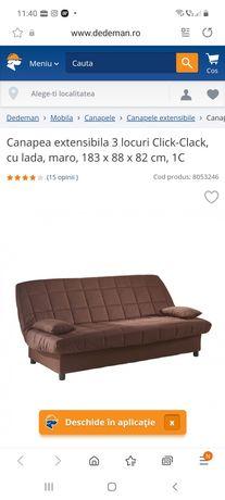 Canapea extensibila aproape noua
