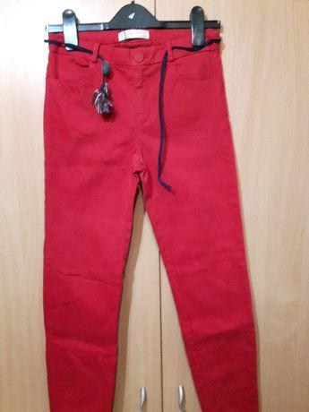 НОВИ червени еластични панталони Зара 11г ръст 152