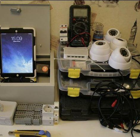 Камеры , установка видеонаблюдения .