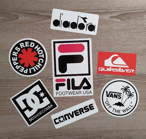 Стикери VANS , Fila, Diadora, DC Shoe Converse лист А4 - 7 бр. стикера