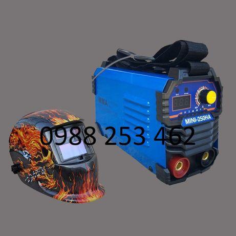 СОЛАРНА МАСКА+ 250А МАХ Мини 2,5 кг Електрожен инверторен с дисплей НА